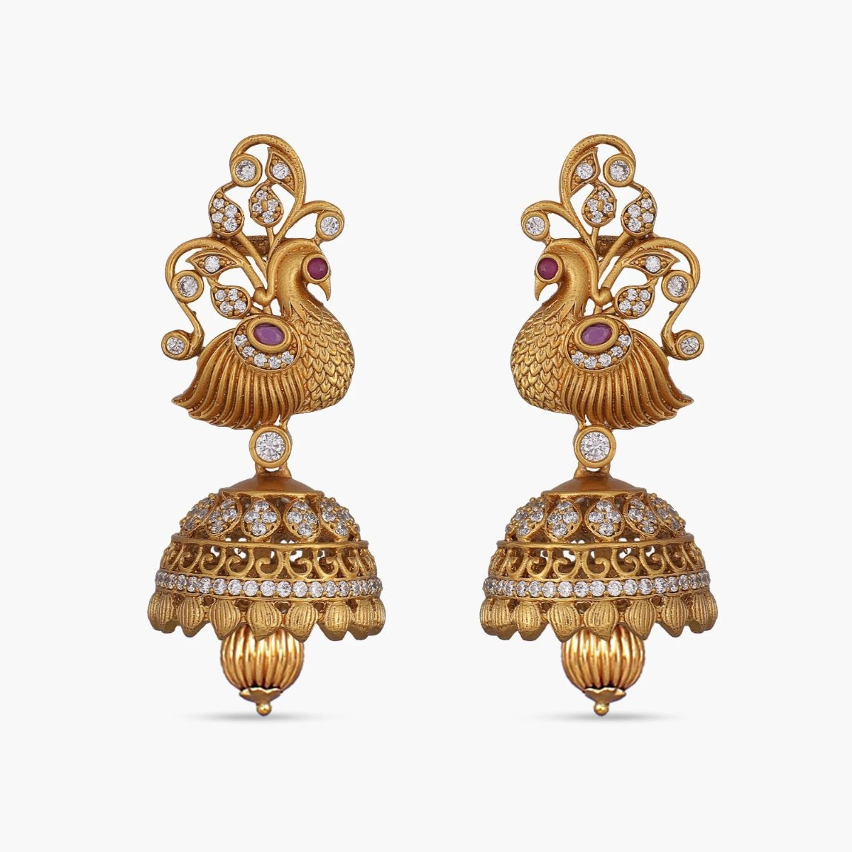 Malavika Antique Jhumka Earrings