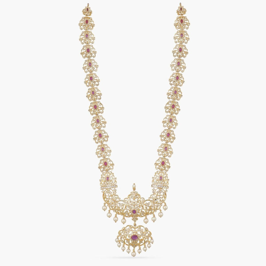Samyukta Nakshatra CZ Long Necklace