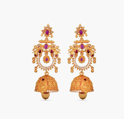 Pallav Antique Chandbali Earrings by Tarinika