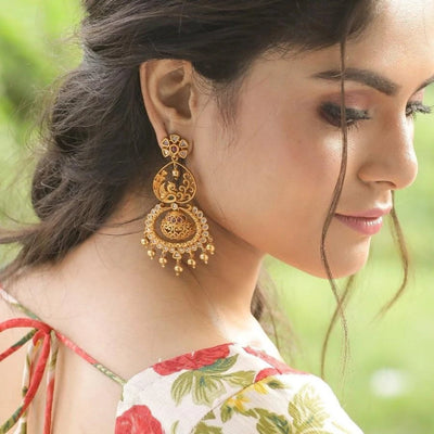 Riya Antique Earrings by Tarinika