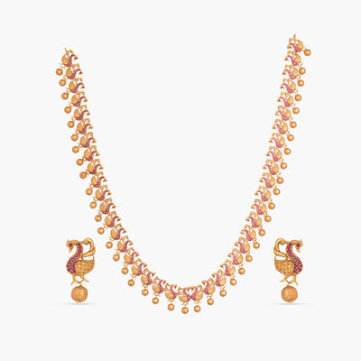 Sameen Antique Long Necklace Set by Tarinika