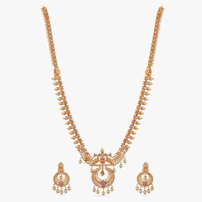 Hami Antique Long Necklace Set by Tarinika