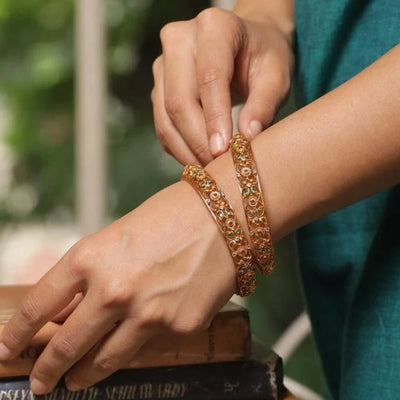 Argus Antique Bangle by Tarinika