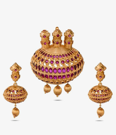 Avnitha Antique Pendant Set