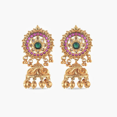 Ruhi  Antique Jhumka Earrings by Tarinika