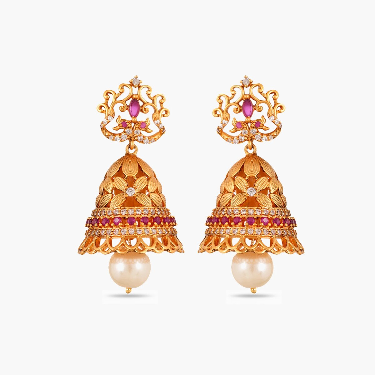 Adi Antique Jhumka Earrings