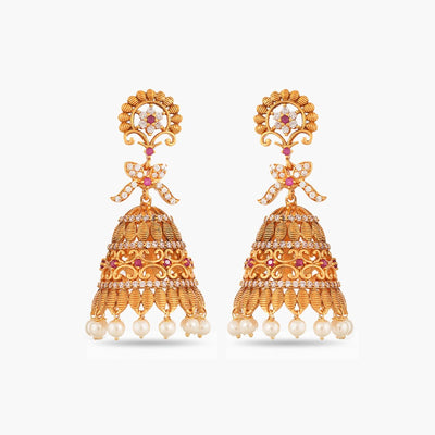 Ishara Antique Jhumki Earrings by Tarinika