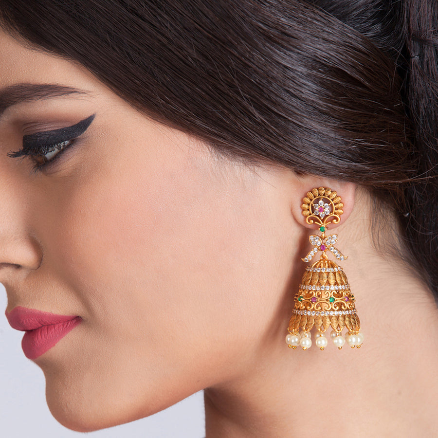 Ishara Jhumka Earrings