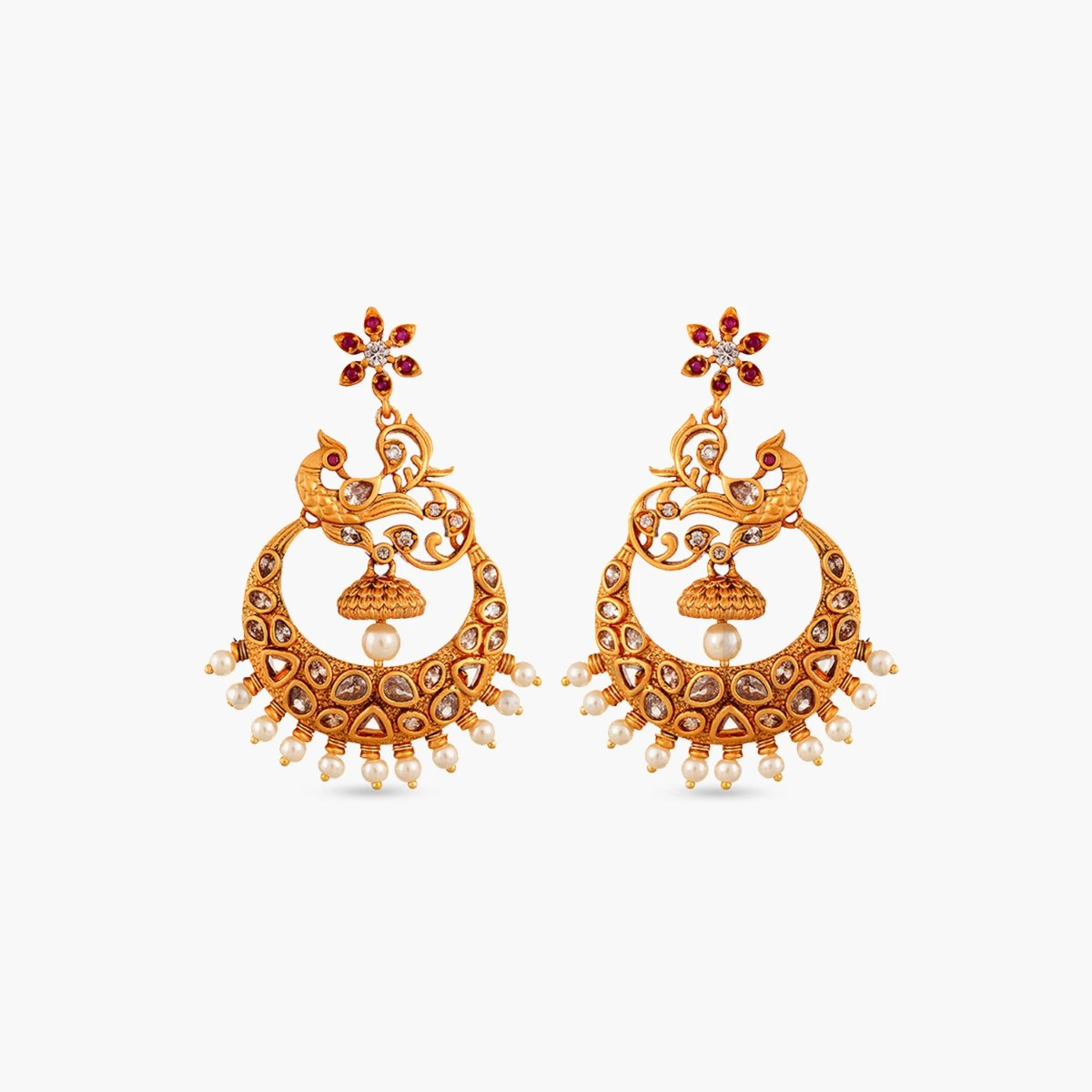 Mia Antique Chandbali Earrings