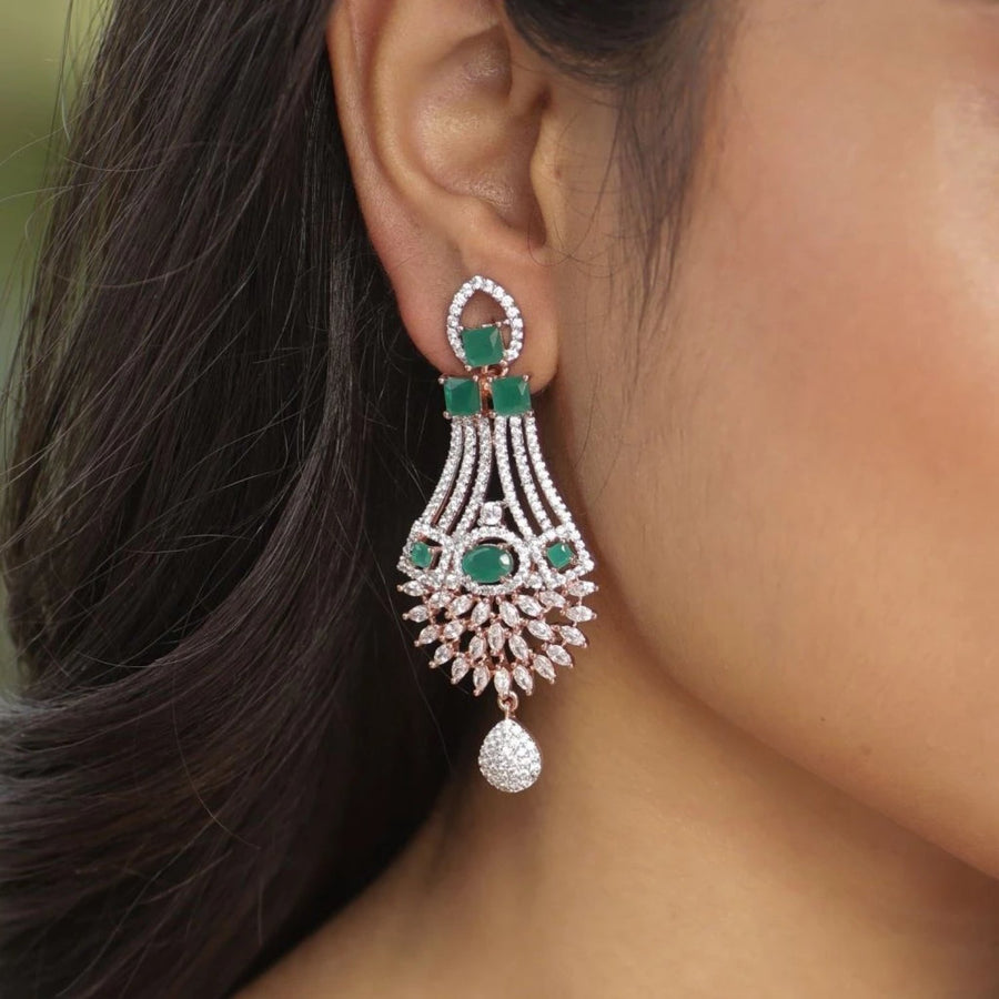 Prisha Nakshatra CZ Earrings by Tarinika