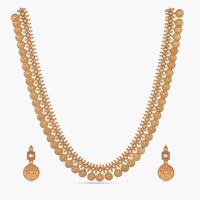 Vana Antique Long Necklace Set by Tarinika