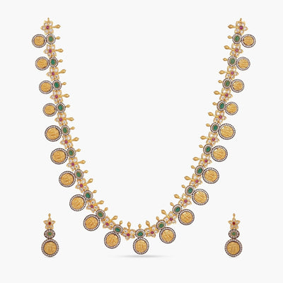 Saaya Nakshatra CZ Long Necklace Set