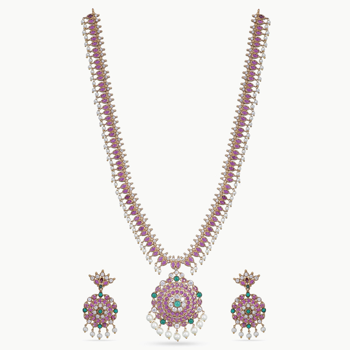 Varni Antique Long Necklace Set
