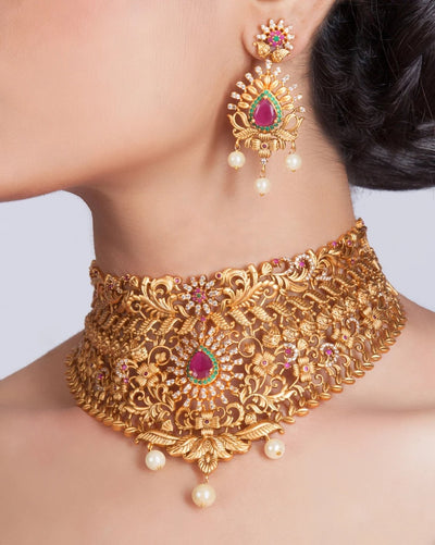 Ila Antique Choker Set by Tarinika