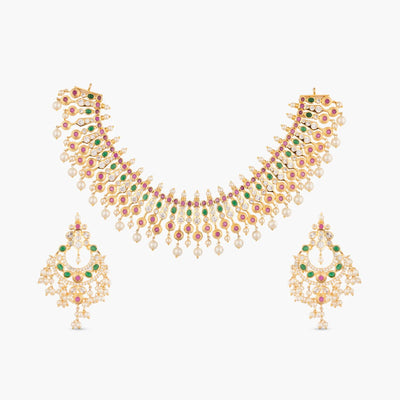 Ehimay Nakshatra CZ Necklace Set by Tarinika