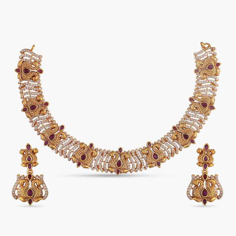 Dhara Antique Necklace Set