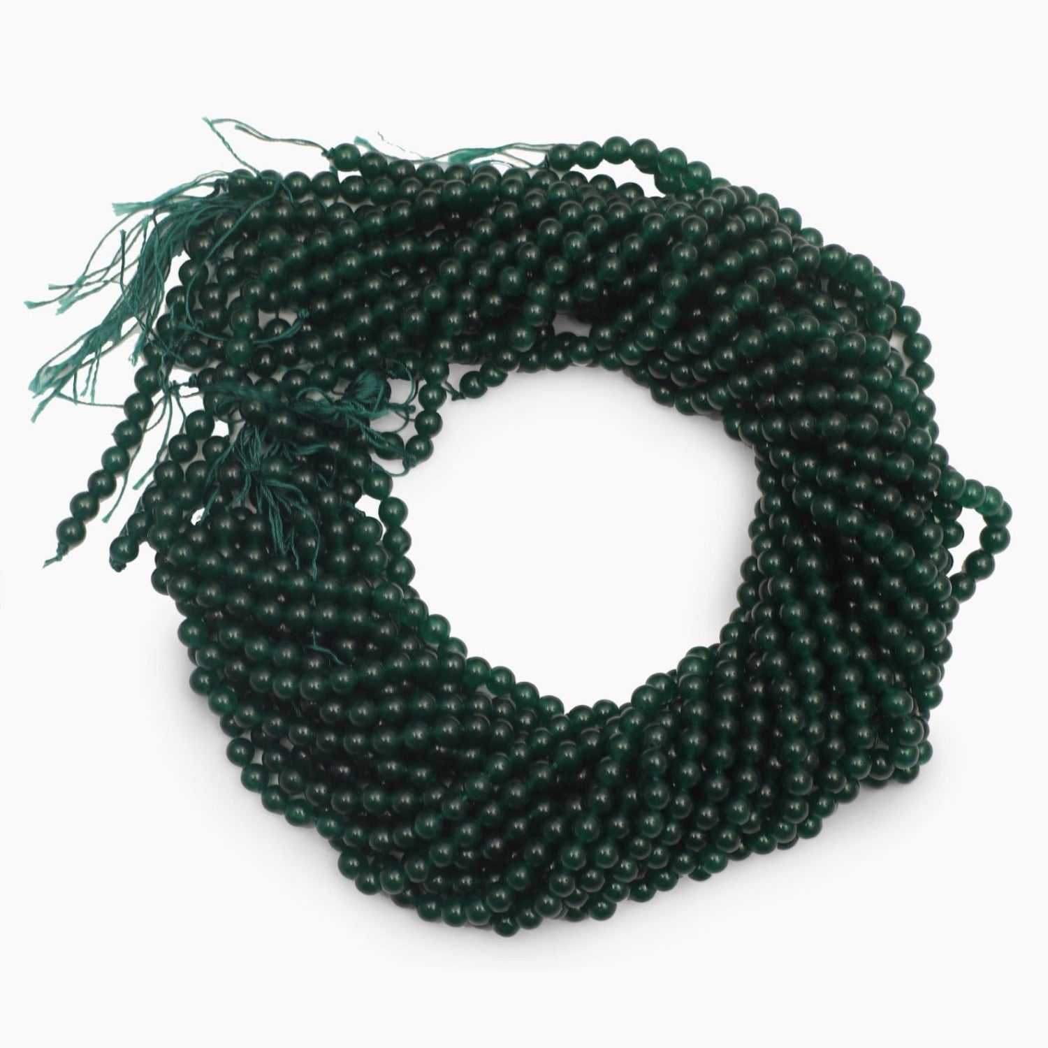 Green Jade Dyed Quartz 5mm Beads- Sold Per Strand