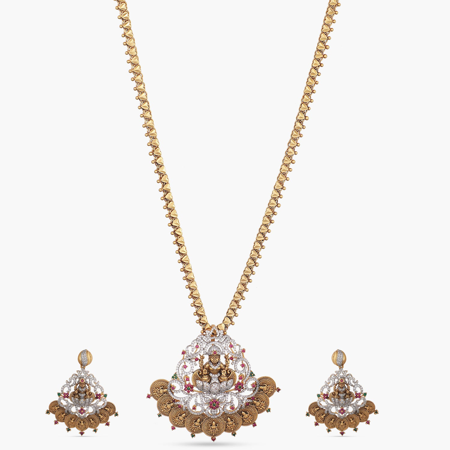 Hema Antique CZ Pendant Set