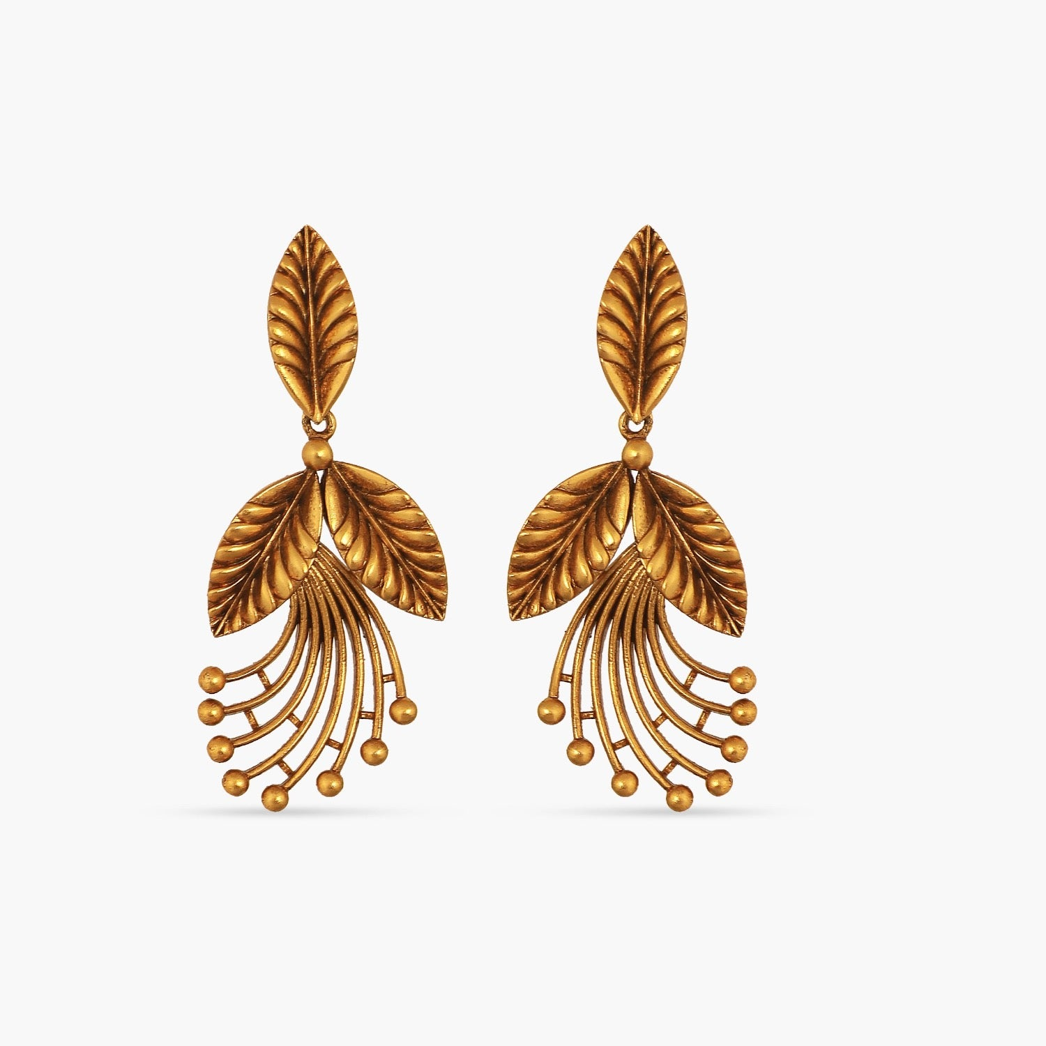 Parnal Leafy Statement Earrings