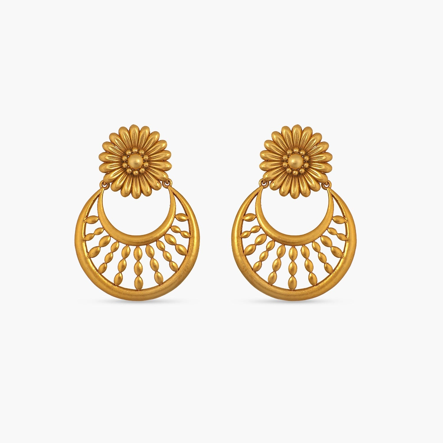 Daisy Floral Statement Earrings