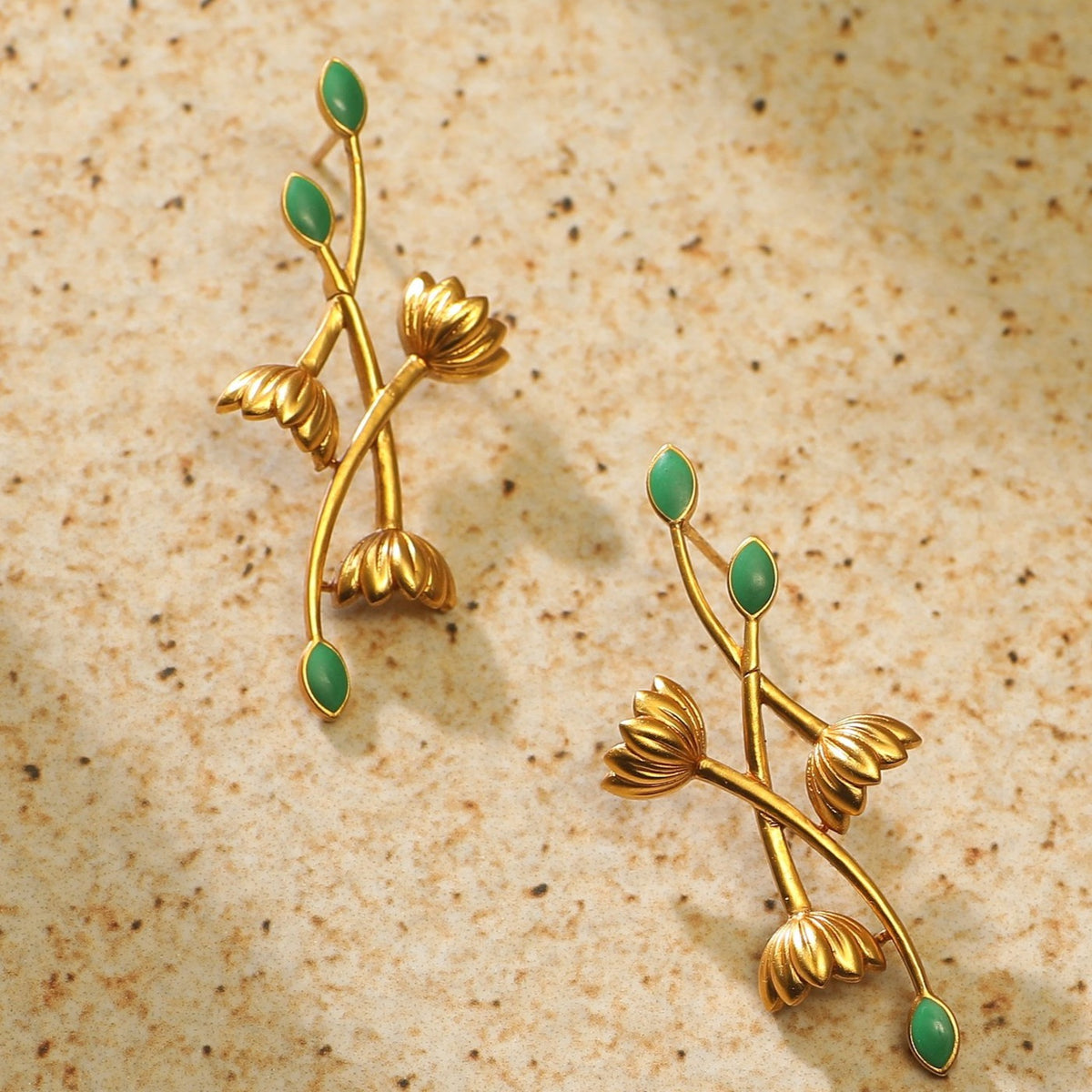 Fleur Lotus Statement Earrings