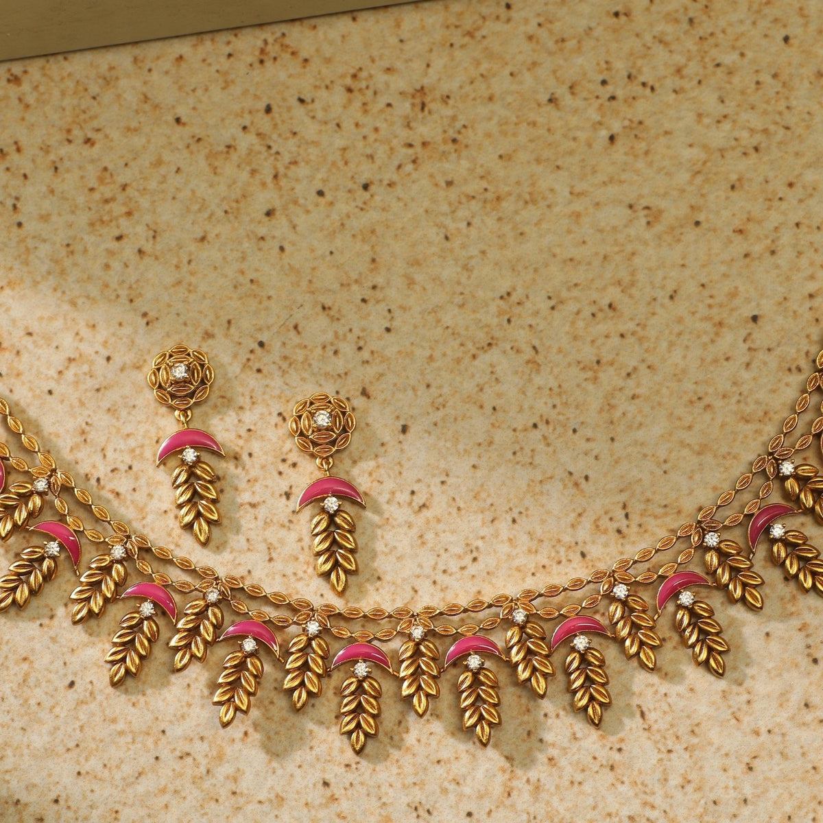 Blooming Petals Statement Necklace Set