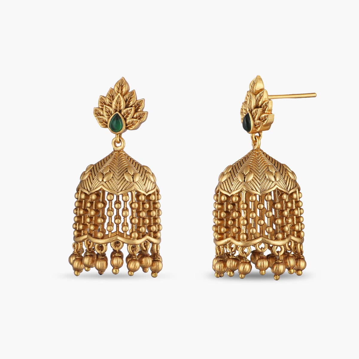 Lata Antique Jhumka Earrings