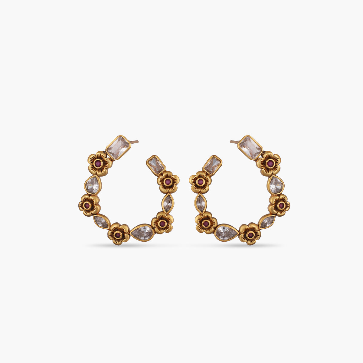 Kavia Antique Hoop Earrings