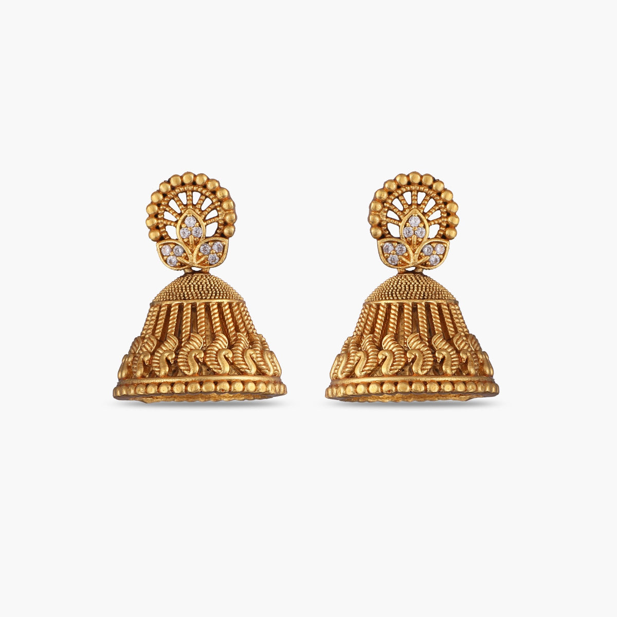 Nila Antique Jhumka Earrings