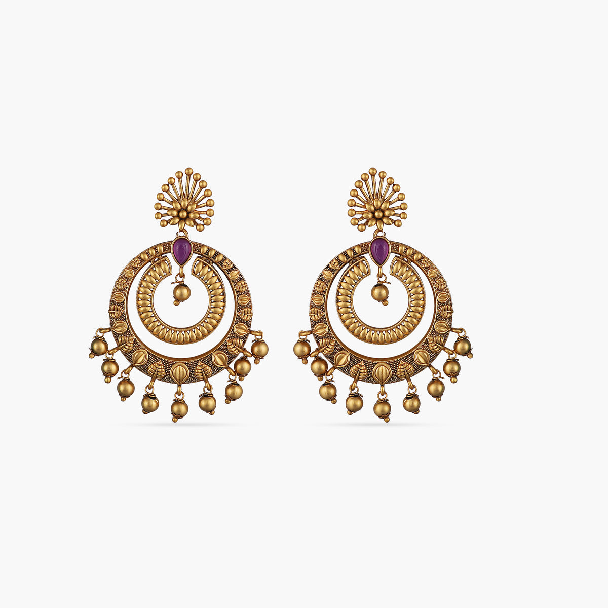 Kalpa Antique Chandbali Earrings