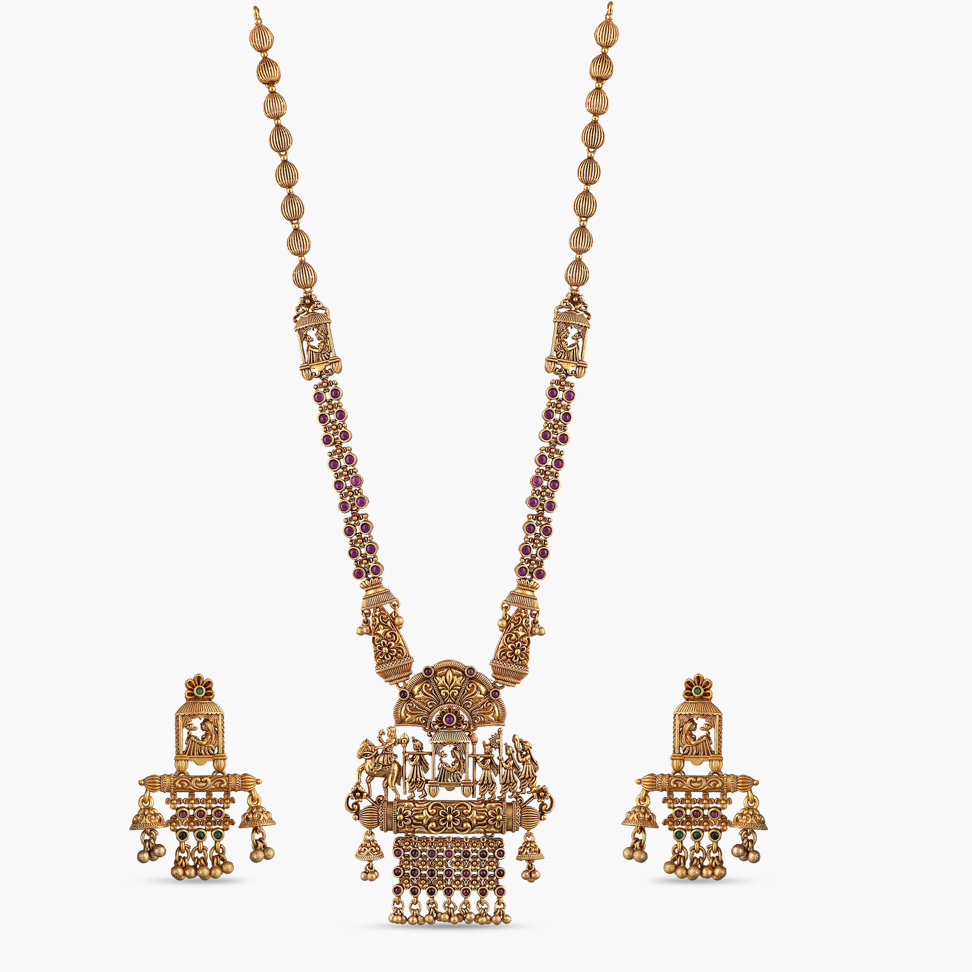 Aina Antique Long Necklace Set