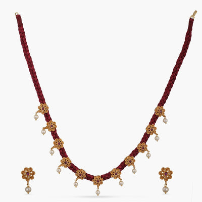 Taran Antique Necklace Set by Tarinika
