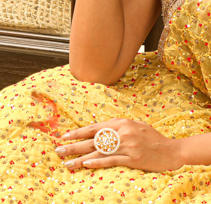Edha Kundan Ring by Tarinika