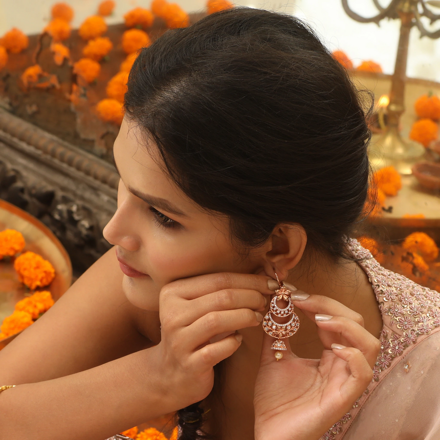 Irune Nakshatra CZ Changeable Earrings by Tarinika