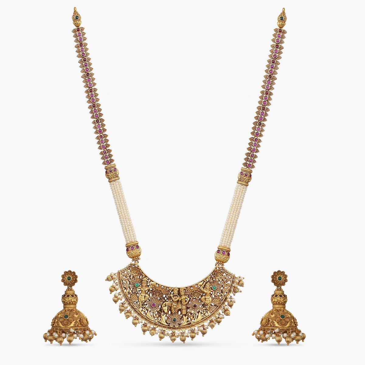 Lolita Antique Pearls Long Necklace Set