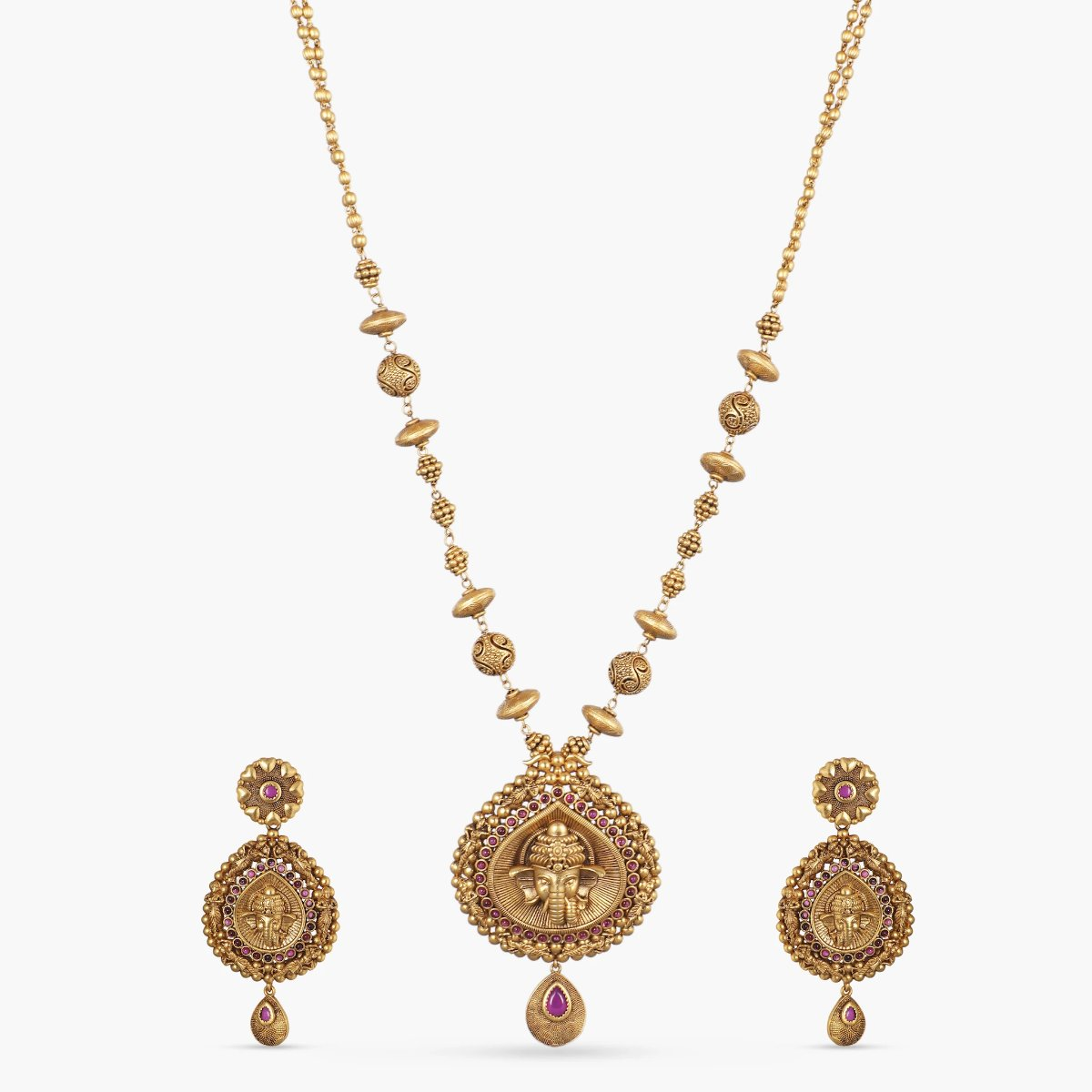 Abiya Antique Pendant Set