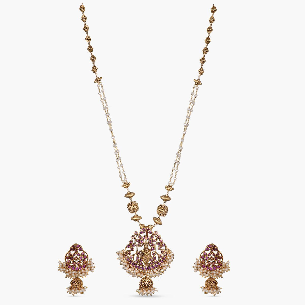 Bhavini Antique Pendant Set