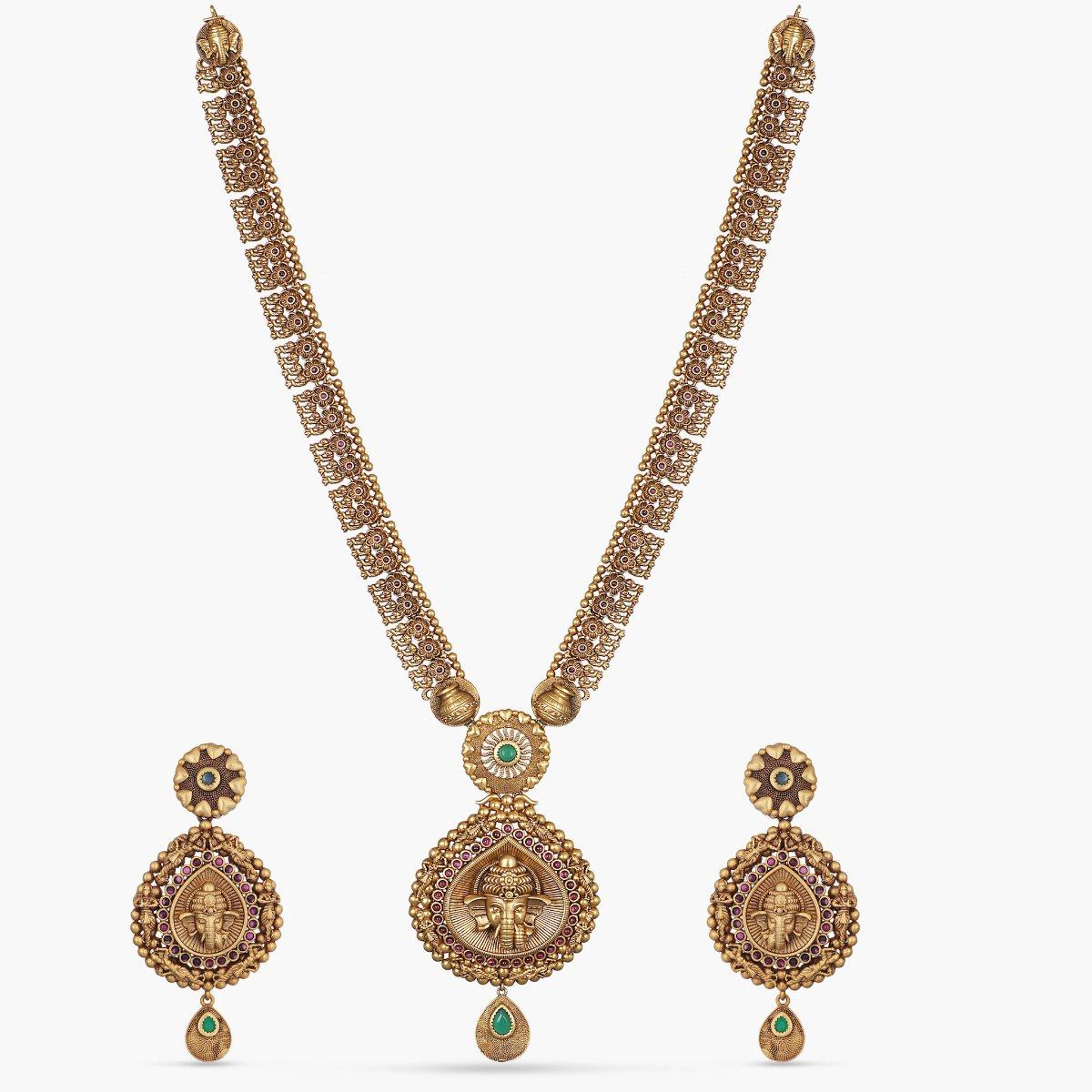 Abiya Antique Long Necklace Set