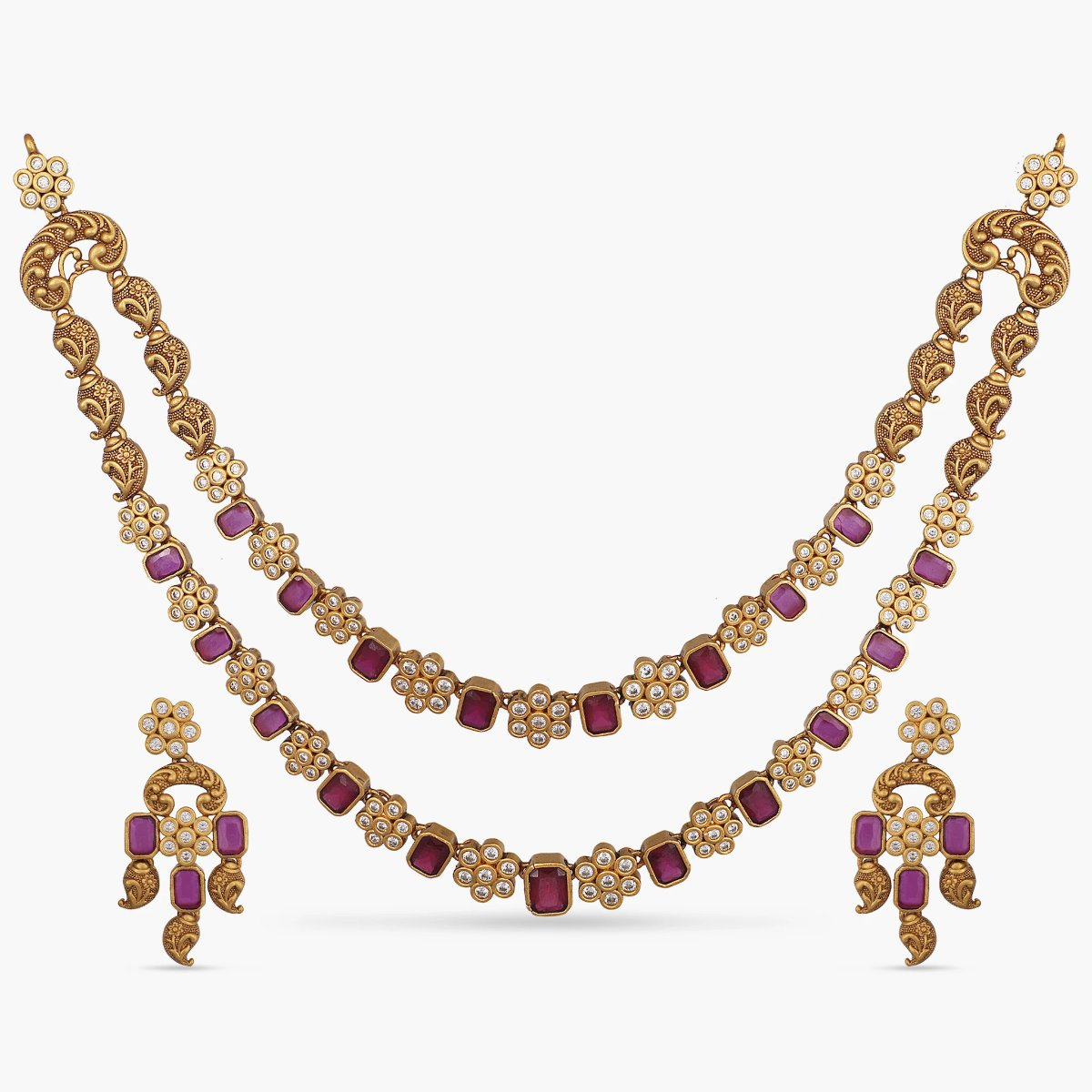 Ikshita Antique Necklace Set