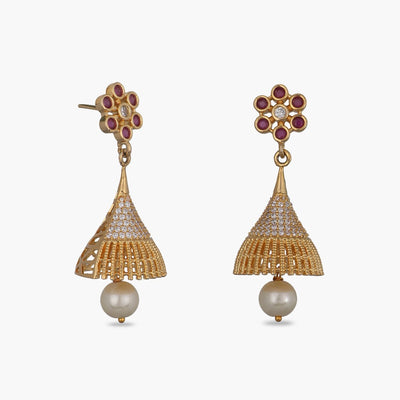 Emily Nakshatra CZ Jhumka Earrings