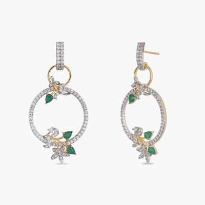 Olive Nakshatra CZ Earrings