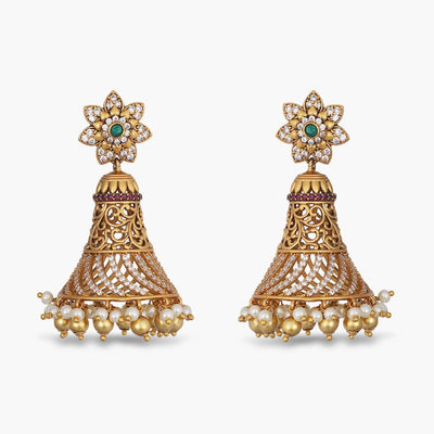 Akula Antique Jhumka Earrings