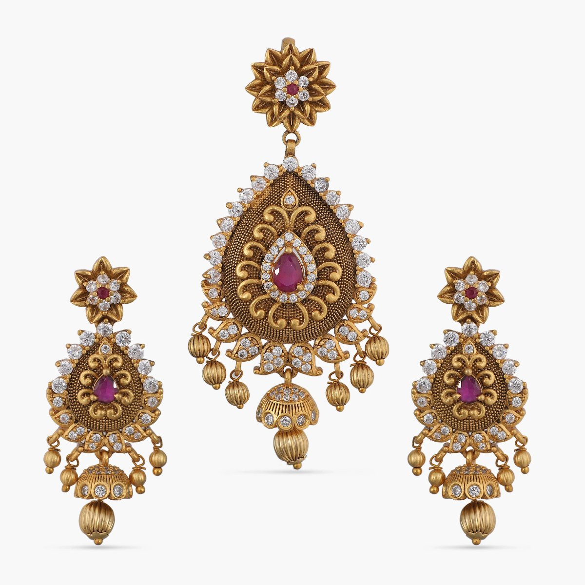 Dhaksha Antique Pendant Set