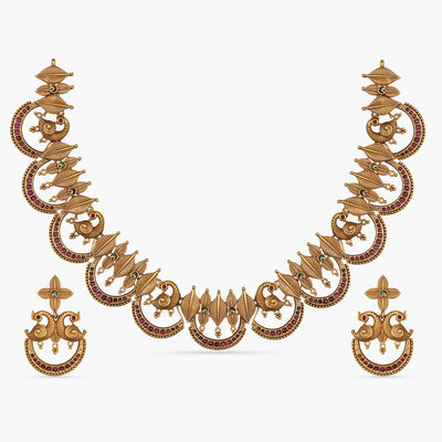 Tusti Antique Necklace Set by Tarinika