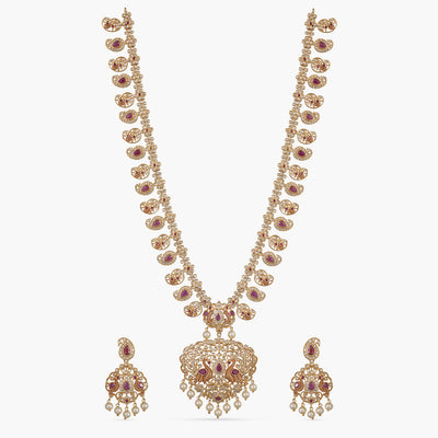 Panchi Nakshatra CZ Long Necklace Set