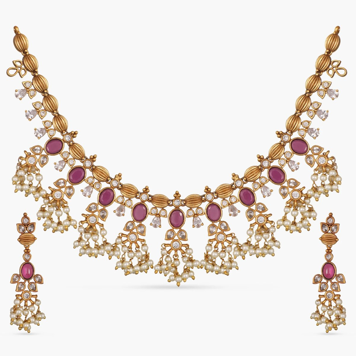 Phool Antique Necklace Set