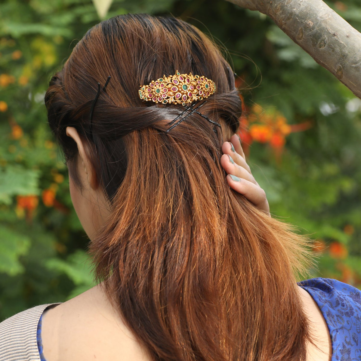 Parijat Antique Hair Clip