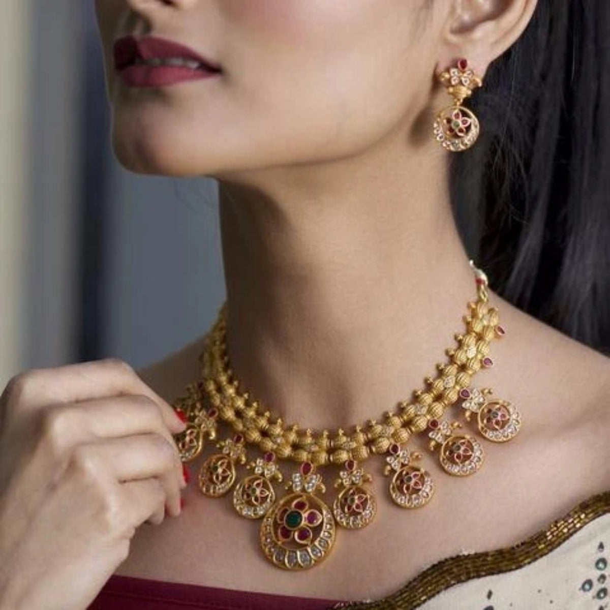 Siya Antique Necklace Set