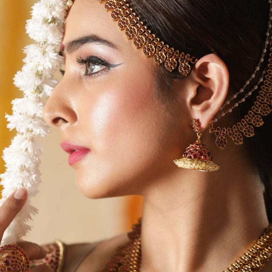 Gitika Antique Jhumka Earrings