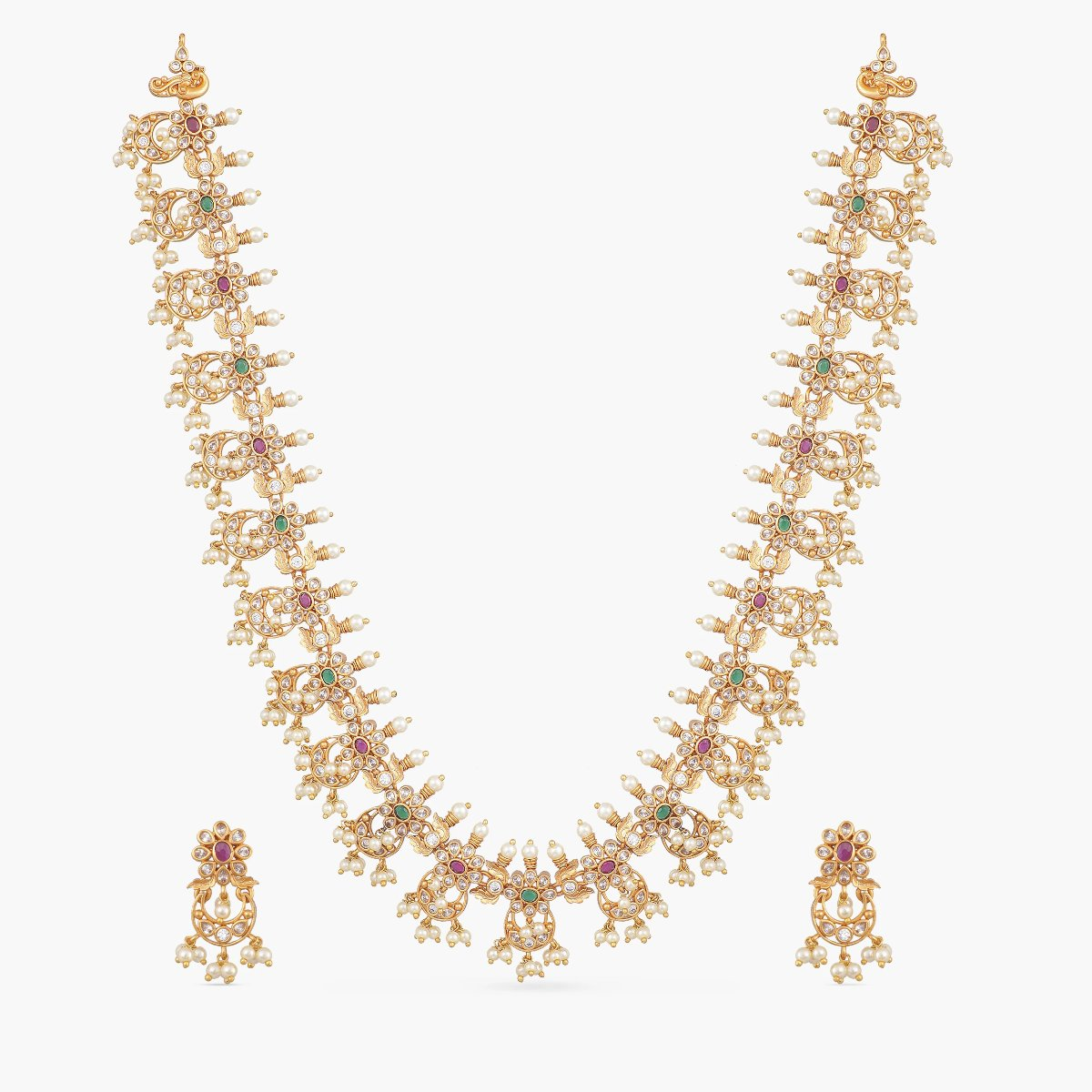 Nalini Antique Long Necklace Set